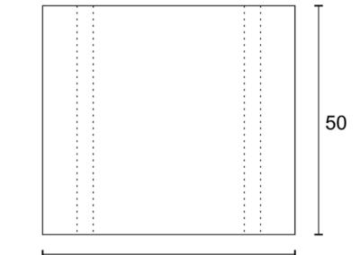 Korytko Skrzynkowe dł. 50 cm - rzut poziomy