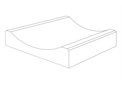 Korytko K-2 50x50x15 cm - rysunek 3D