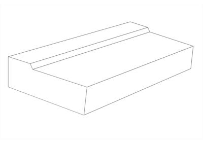 Korytko Przykrawężnikowe D 50x8x10 cm - rysunek 3D
