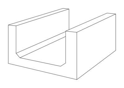 Korytko Skrzynkowe dł. 50 cm - rysunek 3D