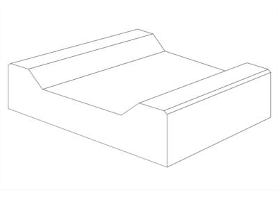 Korytko Trapezowe Płytkie 30x30x10,5 cm - rysunke 3D
