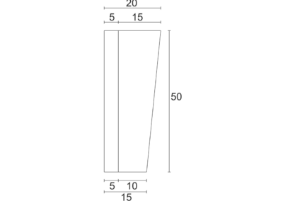 Korytko Skarpowe Trapezowe 38x50x50 cm - rzut pionowy 2